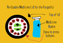 Pill Reminder Bottle for the Forgetful
