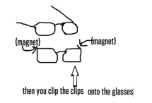 3D Glasses Clips