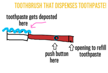 Toothbrush that dispenses toothpaste!