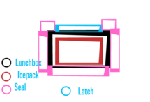 Sealed Lunchbox W/ Auto-Cooling Icepack