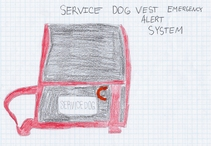 Service Dog Vest Emergency Alert System