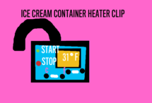 ice cream container heater clip