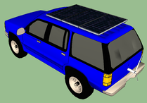 Wind and Solar Power Car