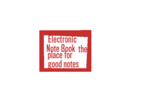 Electronic Note  Book.