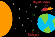 Space junk removal system